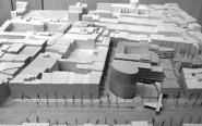 Scale model of the new hotel planned for the El Raval district of Barcelona