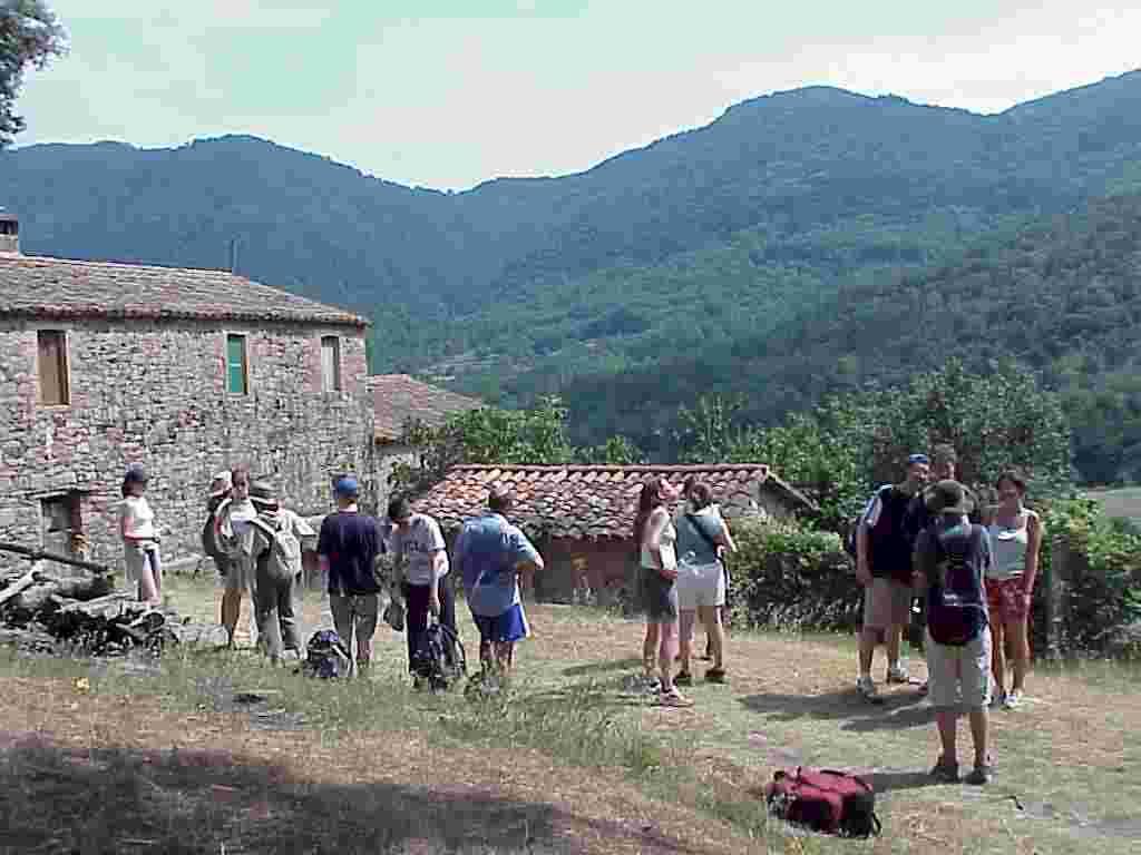 En route between the Santa Margarida Volcano and the medieval village of Santa Pau