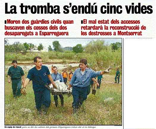 La Vanguardia June 11th 2000 News Photograph