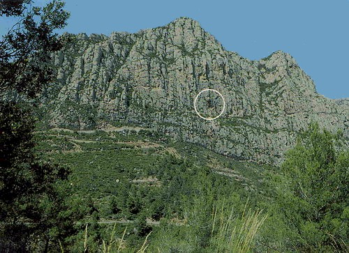 The entrance to the Coves del Collbat� in the Montserrat mountains
