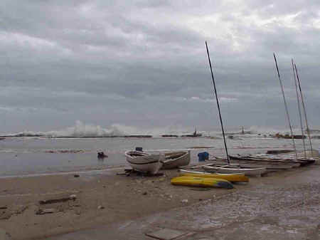 Sitges Beaches: Beach 15, November storms 2001