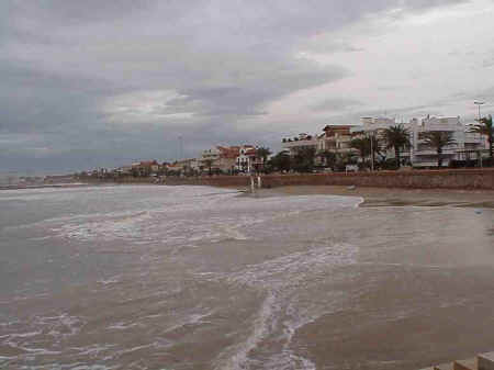 Sitges Beaches: No. 7 Beach, November storms 2001