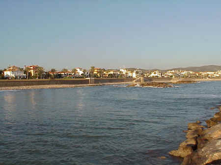 Sitges Beaches, Numbers 9, 10 and 11 after the storms, November 2001