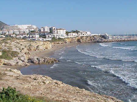 Sitges: Balmi Beach, after the storms, November 2001