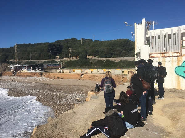 Chadwell Heath Academy A level Geography students undertaking their coastal fieldwork in Sitges