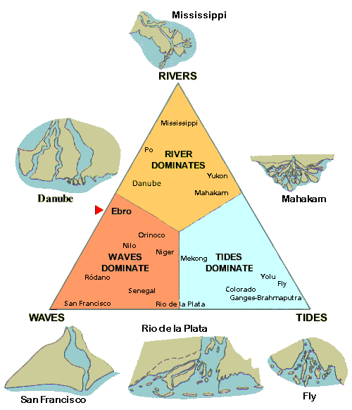 diagram of the deltaic formations in accordance with