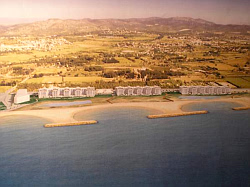 Aerial view of the planned Platja Llarga development