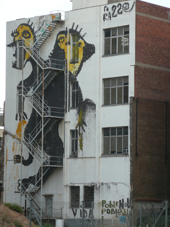 Abandoned Poblenou factory with extensive resistance grafitti (2010)