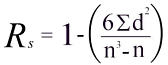 Spearman's Rank Correlation Coefficient Formula